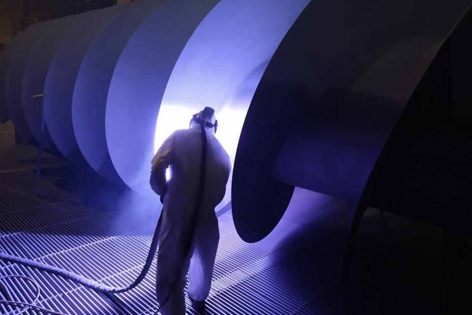 Vandezande metaal constructie en conservering